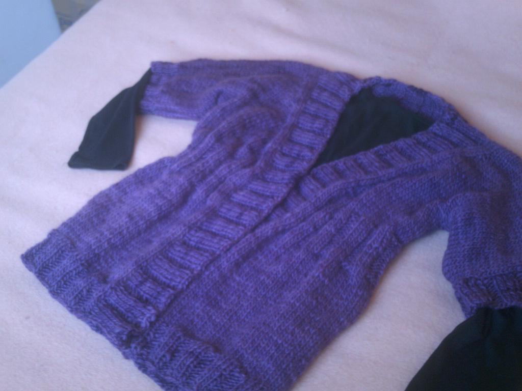 Sacos de invierno tejidos en dos agujas - Tejado a dos aguas ...