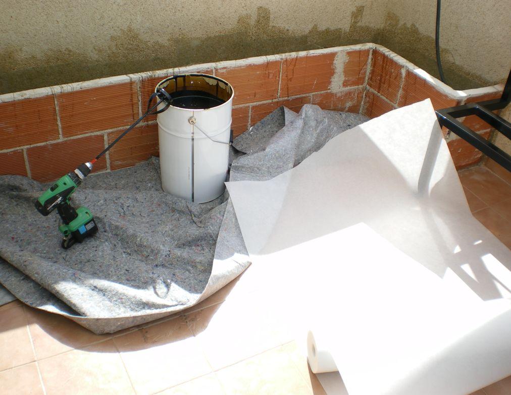 Impermeabilizaci n de jardineras - Jardineras de fibra de vidrio ...