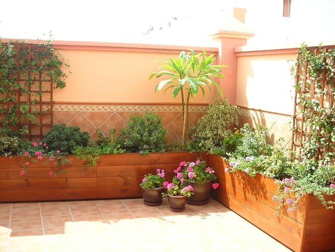 Resumen del dise o en terraza de jruizg for Jardineras para patios pequenos