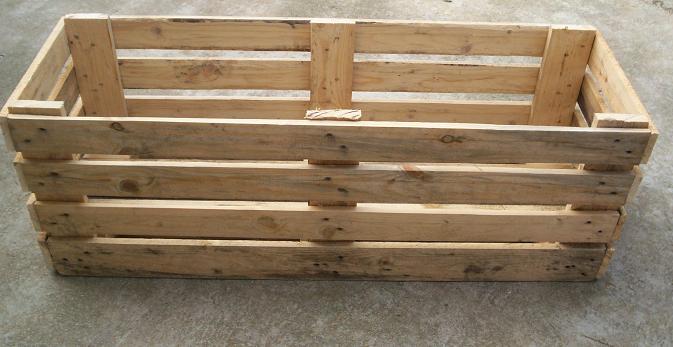 1000 images about macetas on pinterest pallets pallet - Macetas de madera ...