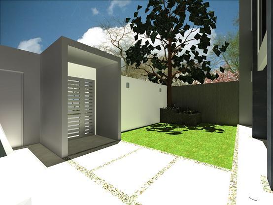 Dise o para jard n minimalista for Casa con jardin al frente