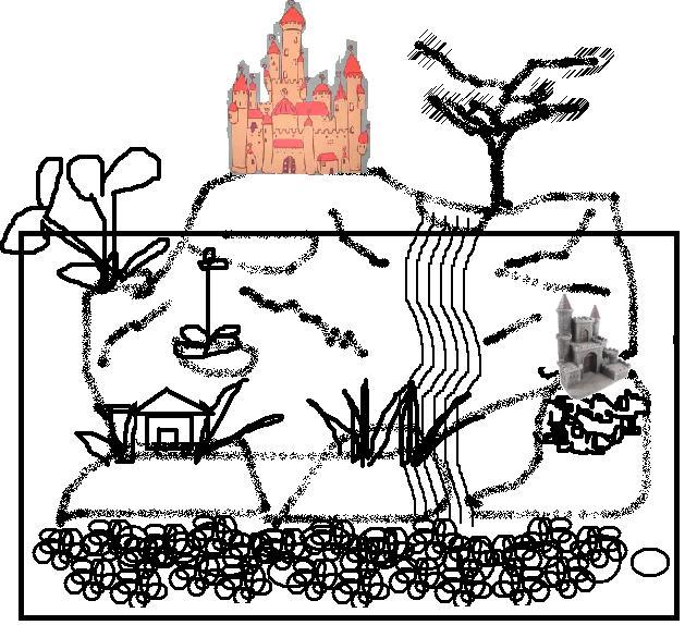 Dibujo de paisaje acuatico - Imagui